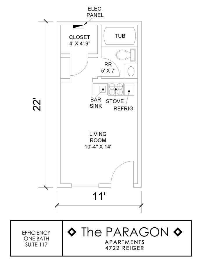 Studio 1 Bathroom Apartment for rent at Paragon in Dallas, TX