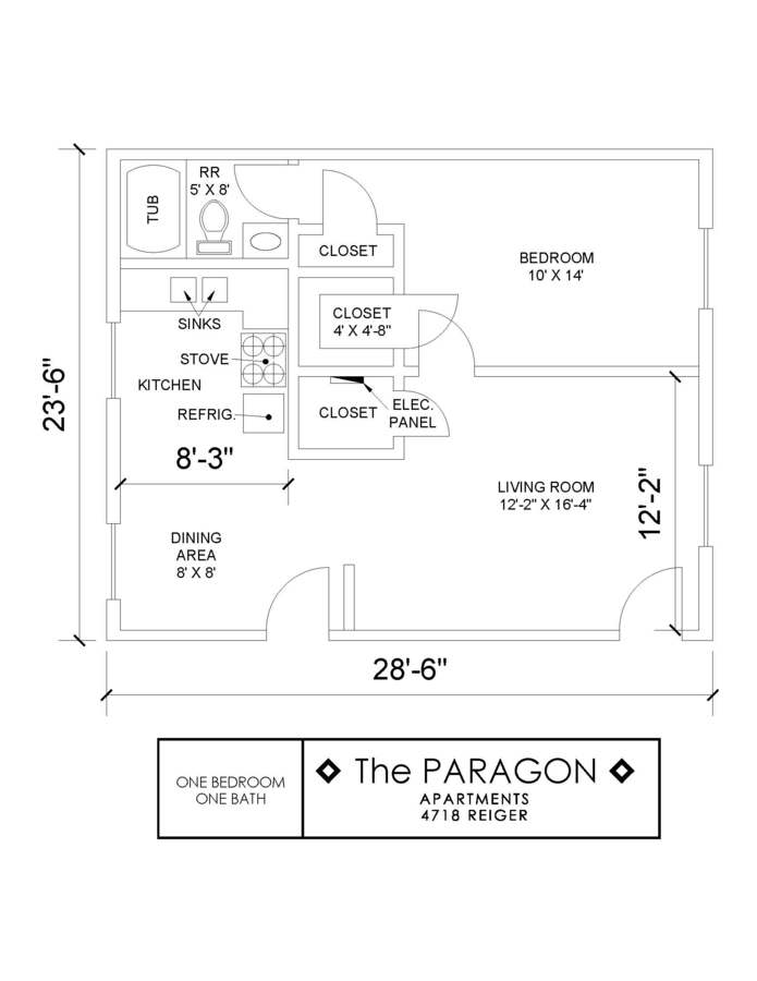 1 Bedroom 1 Bathroom Apartment for rent at Paragon in Dallas, TX