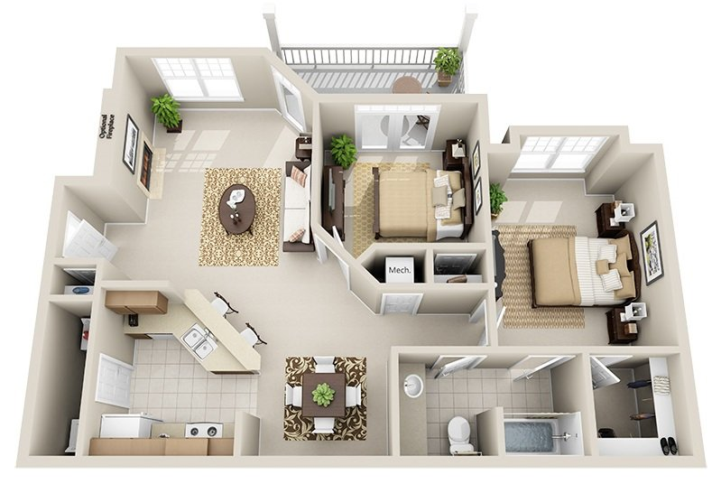 2 Bedrooms 1 Bathroom Apartment for rent at Legacy North Pointe in Raleigh, NC