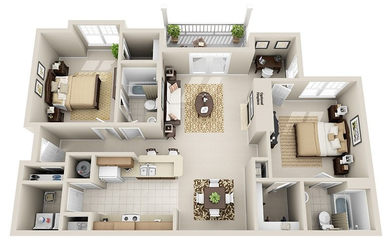 2 Bedrooms 2 Bathrooms Apartment for rent at Legacy North Pointe in Raleigh, NC
