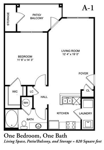 1 Bedroom 1 Bathroom Apartment for rent at Legacy Crossroads in Cary, NC