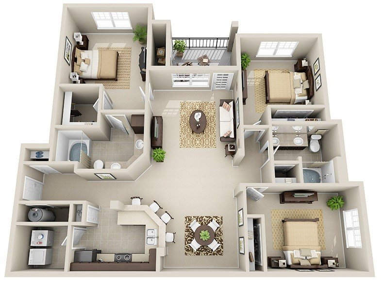 3 Bedrooms 2 Bathrooms Apartment for rent at Legacy Crossroads in Cary, NC
