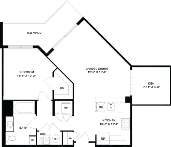 1 Bedroom 1 Bathroom Apartment for rent at Portside At East Pier in East Boston, MA
