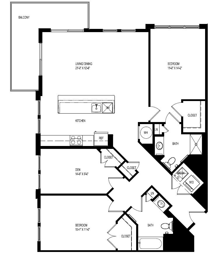 2 Bedrooms 2 Bathrooms Apartment for rent at Portside At East Pier in East Boston, MA