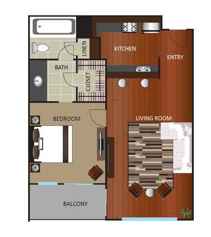 1 Bedroom 1 Bathroom Apartment for rent at Gables Uptown Tower in Dallas, TX