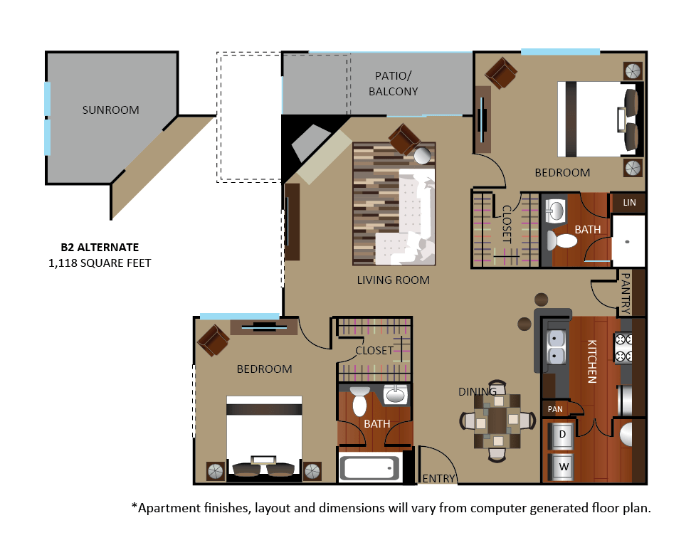 2 Bedrooms 2 Bathrooms Apartment for rent at Gables Cityscape in Houston, TX
