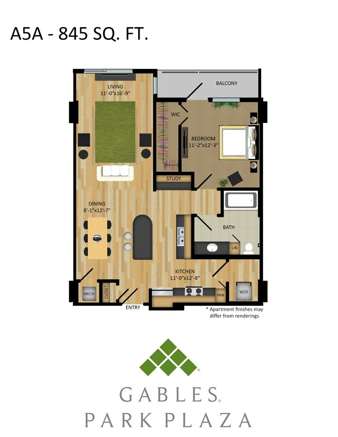 1 Bedroom 1 Bathroom Apartment for rent at Gables Park Plaza in Austin, TX