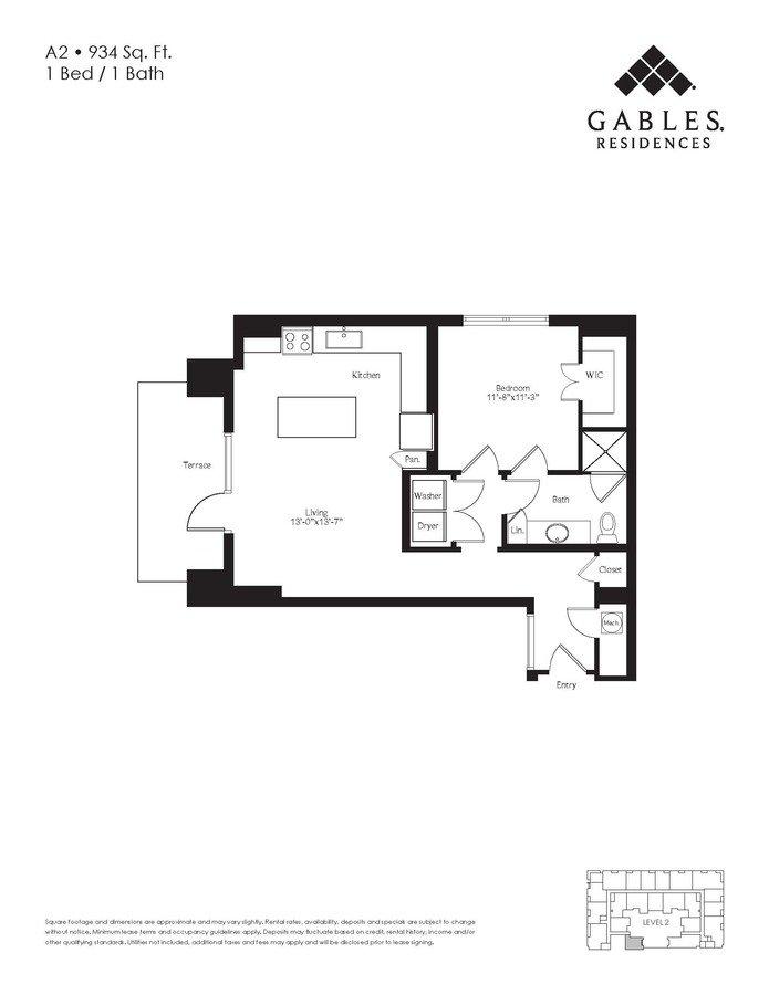 1 Bedroom 1 Bathroom Apartment for rent at Gables Residences in Denver, CO