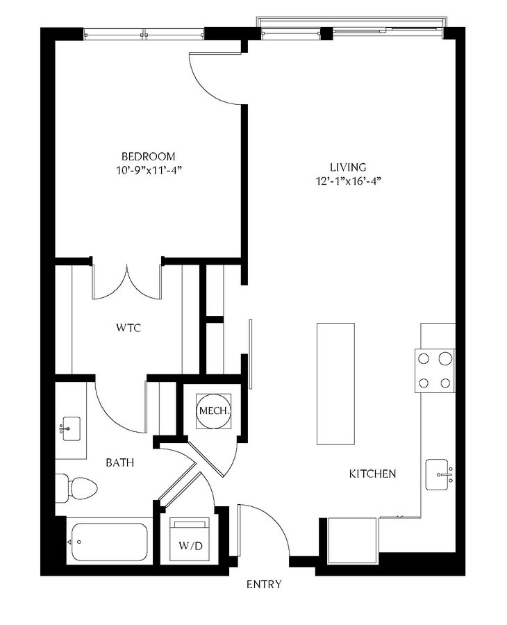 1 Bedroom 1 Bathroom Apartment for rent at Gables Old Town North in Alexandria, VA
