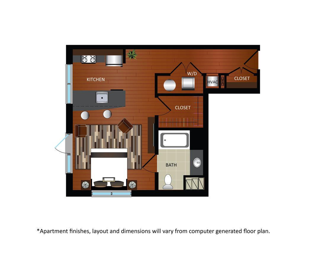 Studio 1 Bathroom Apartment for rent at Gables Takoma Park in Washington, DC