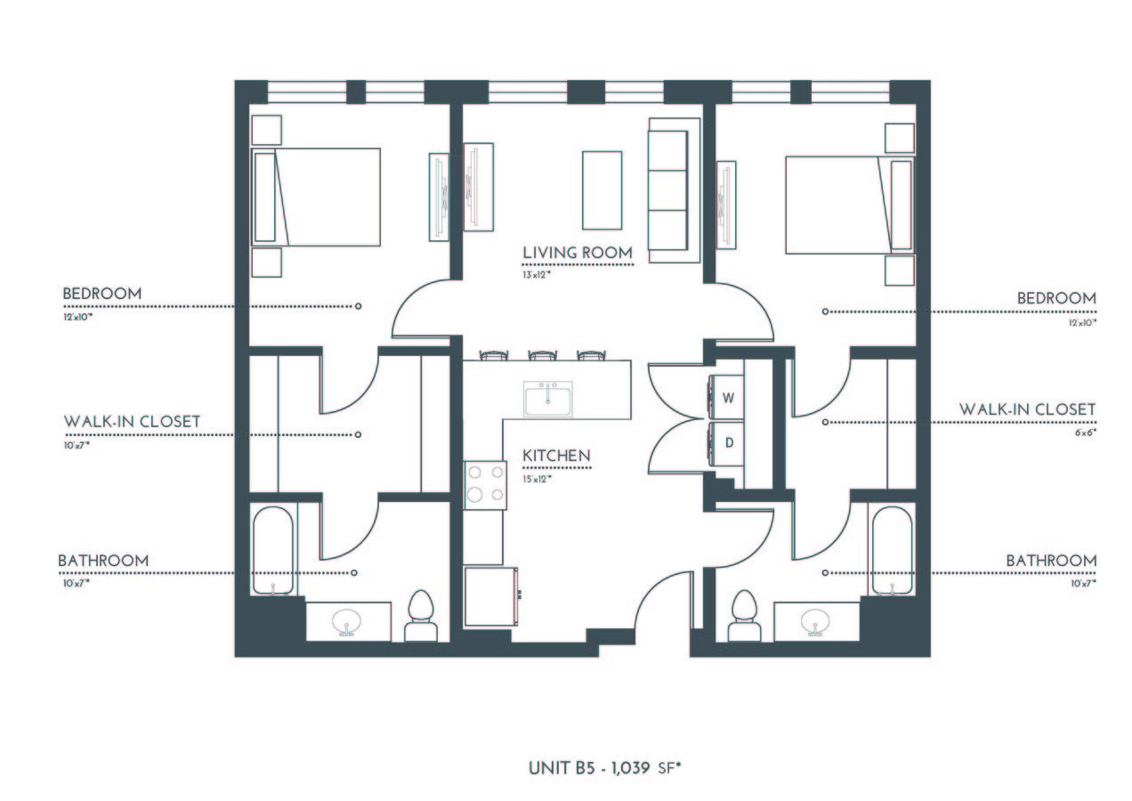 2 Bedrooms 2 Bathrooms Apartment for rent at Theo in Denver, CO
