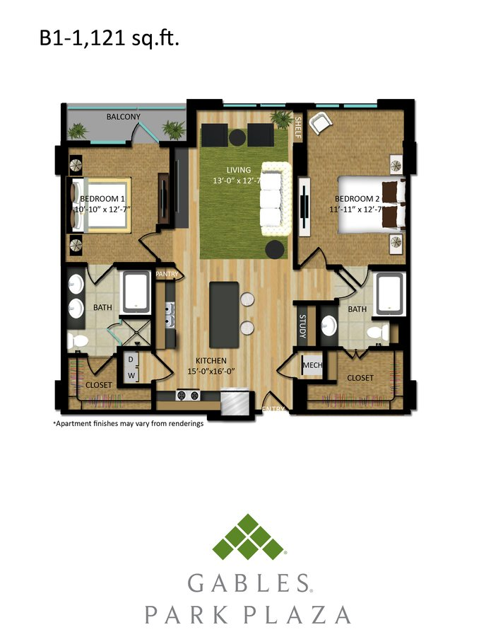 2 Bedrooms 2 Bathrooms Apartment for rent at Gables Park Plaza in Austin, TX