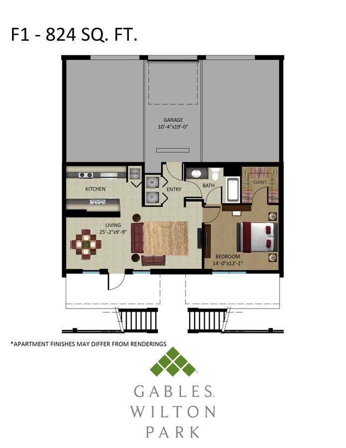 1 Bedroom 1 Bathroom Apartment for rent at Gables Wilton Park in Fort Lauderdale, FL