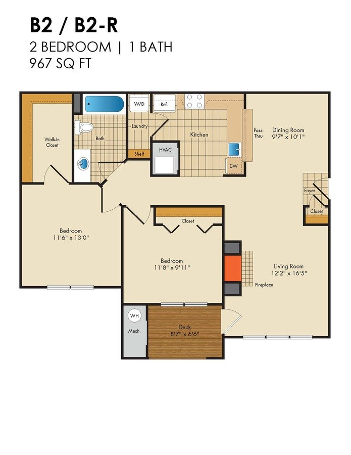 2 Bedrooms 1 Bathroom Apartment for rent at Red Run in Owings Mills, MD