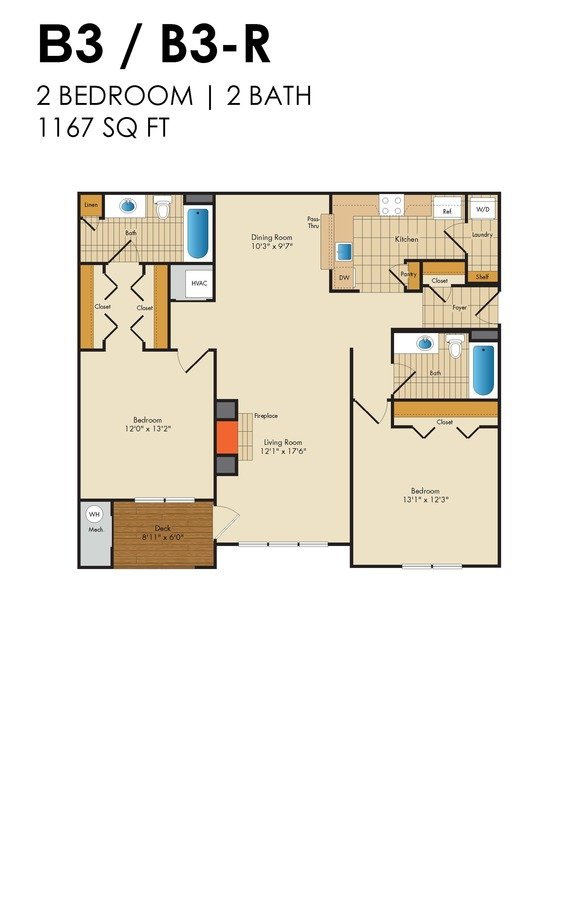 2 Bedrooms 2 Bathrooms Apartment for rent at Red Run in Owings Mills, MD