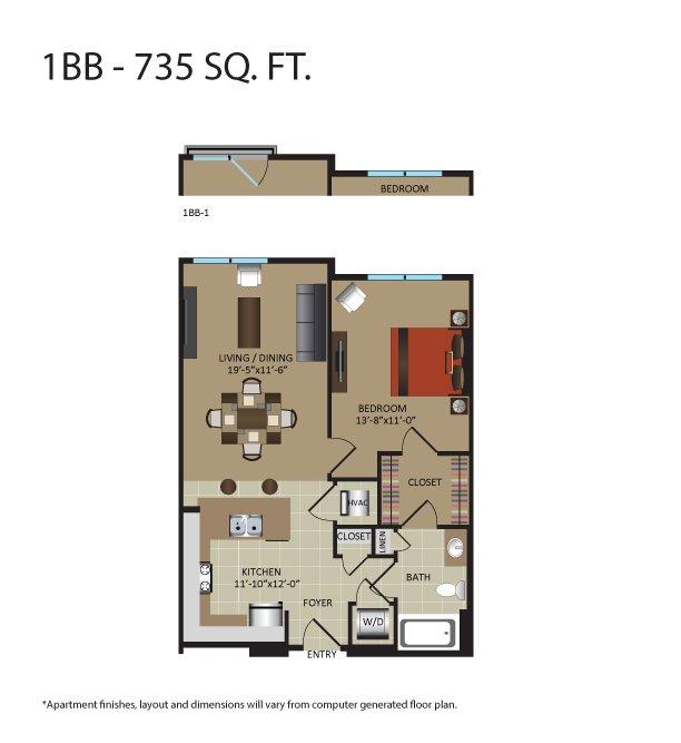 1 Bedroom 1 Bathroom Apartment for rent at Gables Upper Rock in Rockville, MD