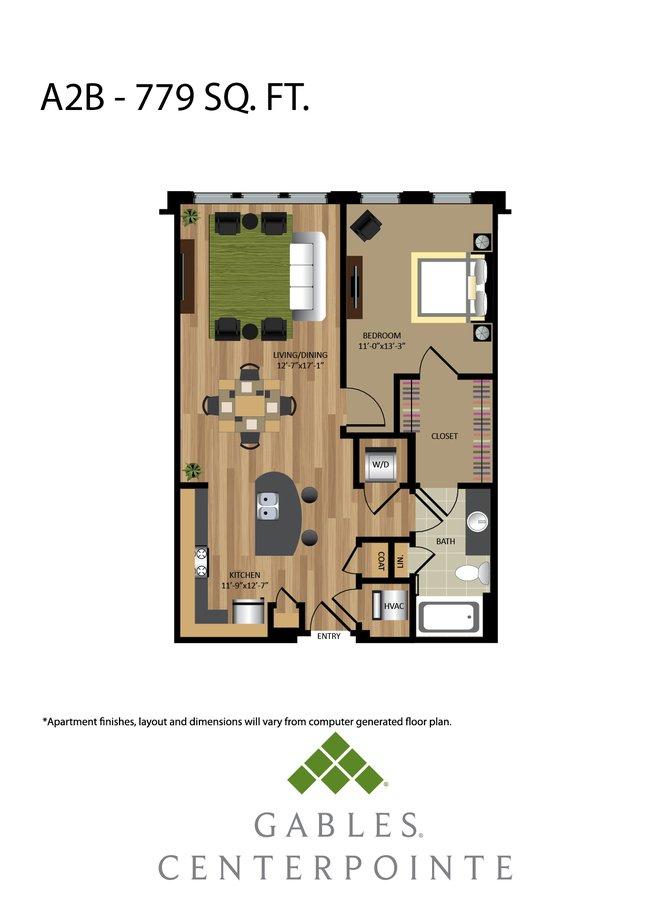 1 Bedroom 1 Bathroom Apartment for rent at Gables Centerpointe in Fairfax, VA