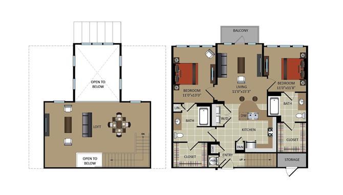 2 Bedrooms 2 Bathrooms Apartment for rent at Gables Midtown in Atlanta, GA