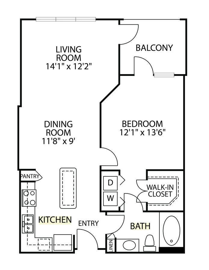 1 Bedroom 1 Bathroom Apartment for rent at Gables Villa Rosa in Dallas, TX