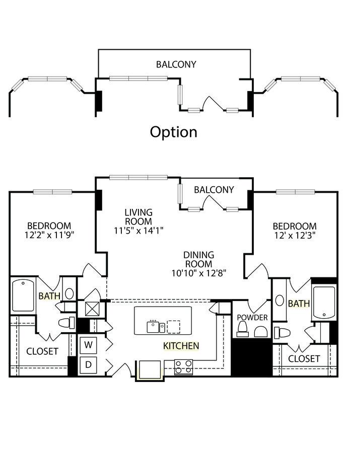 2 Bedrooms 2 Bathrooms Apartment for rent at Gables Villa Rosa in Dallas, TX