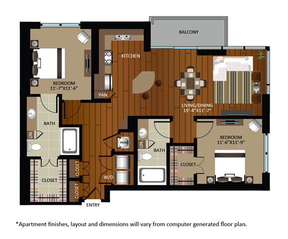 2 Bedrooms 2 Bathrooms Apartment for rent at Gables Cherry Creek in Denver, CO
