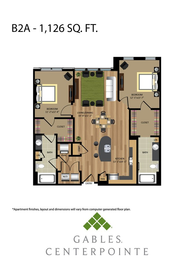 2 Bedrooms 2 Bathrooms Apartment for rent at Gables Centerpointe in Fairfax, VA