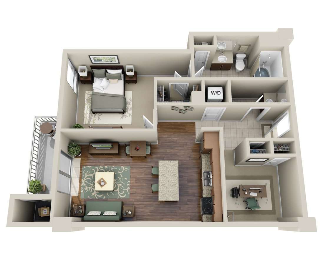 1 Bedroom 1 Bathroom Apartment for rent at M5250 in Houston, TX