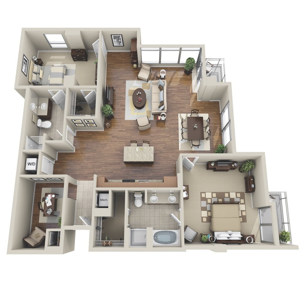 2 Bedrooms 2 Bathrooms Apartment for rent at M5250 in Houston, TX