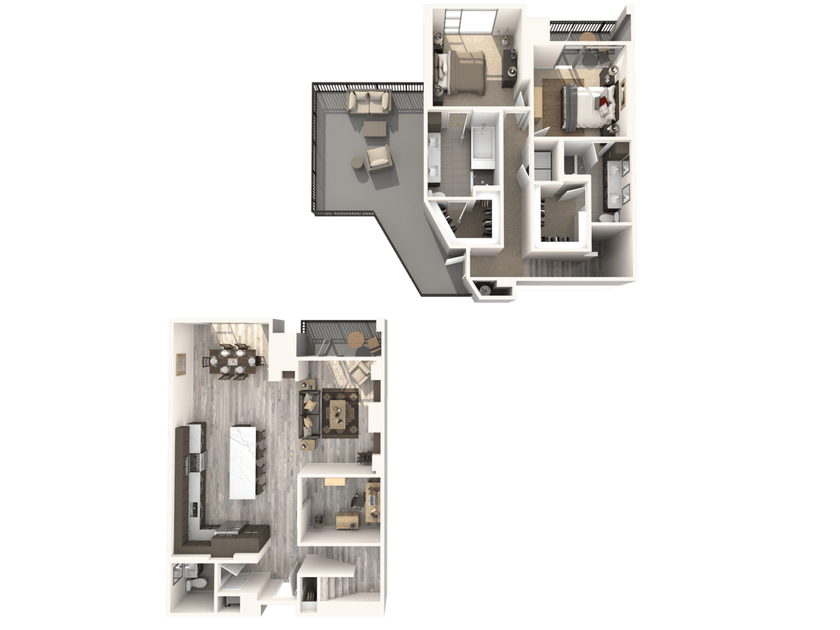2 Bedrooms 2 Bathrooms Apartment for rent at Gables Residences in Denver, CO