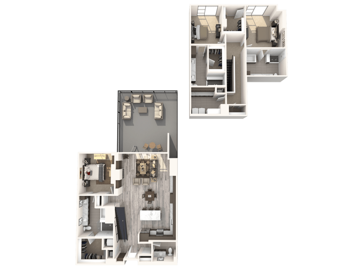 3 Bedrooms 3 Bathrooms Apartment for rent at Gables Residences in Denver, CO