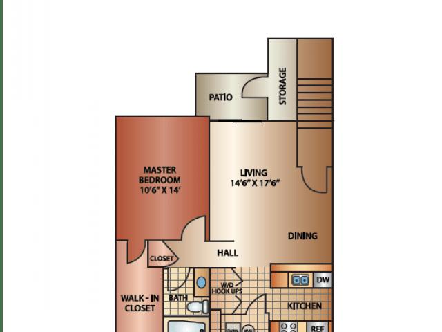 1 Bedroom 1 Bathroom Apartment for rent at Cedar Breaks in Taylorsville, UT