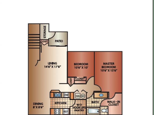 2 Bedrooms 1 Bathroom Apartment for rent at Cedar Breaks in Taylorsville, UT