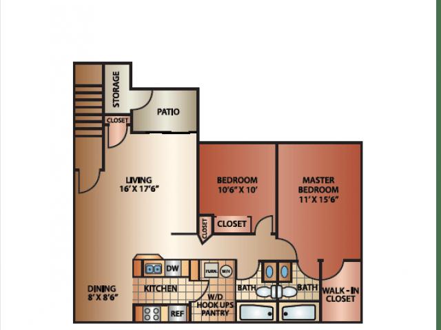 2 Bedrooms 2 Bathrooms Apartment for rent at Cedar Breaks in Taylorsville, UT
