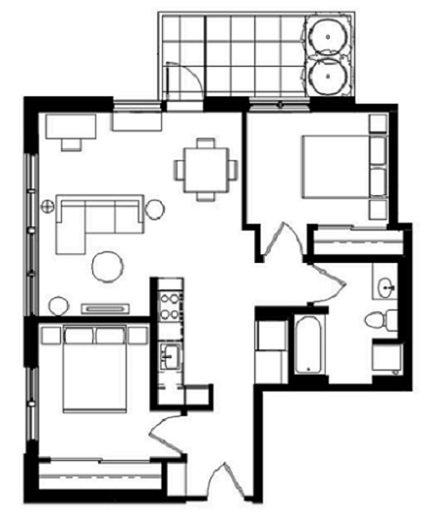 2 Bedrooms 1 Bathroom Apartment for rent at The Elwood Building in Portland, OR