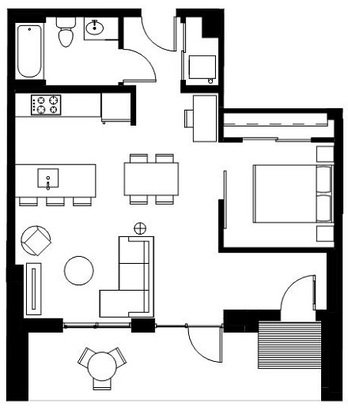 Studio 1 Bathroom Apartment for rent at Velomor in Portland, OR