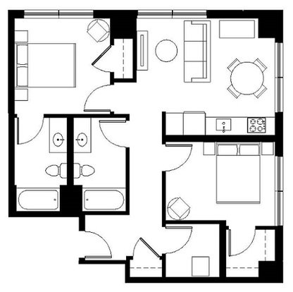 2 Bedrooms 2 Bathrooms Apartment for rent at Aster Tower in Portland, OR