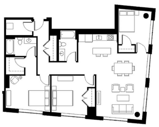 3 Bedrooms 2 Bathrooms Apartment for rent at Aster Tower in Portland, OR
