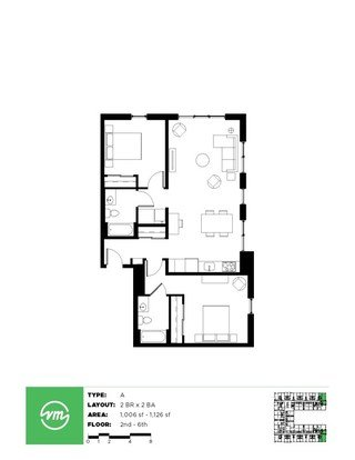 2 Bedrooms 2 Bathrooms Apartment for rent at Velomor in Portland, OR