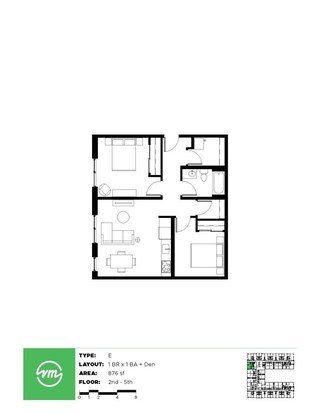 1 Bedroom 1 Bathroom Apartment for rent at Velomor in Portland, OR