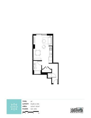 Studio 1 Bathroom Apartment for rent at Aster Tower in Portland, OR