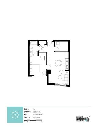 1 Bedroom 1 Bathroom Apartment for rent at Aster Tower in Portland, OR