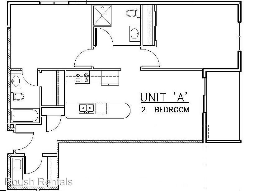 2 Bedrooms 2 Bathrooms Apartment for rent at 707 La Crosse St, in La Crosse, WI