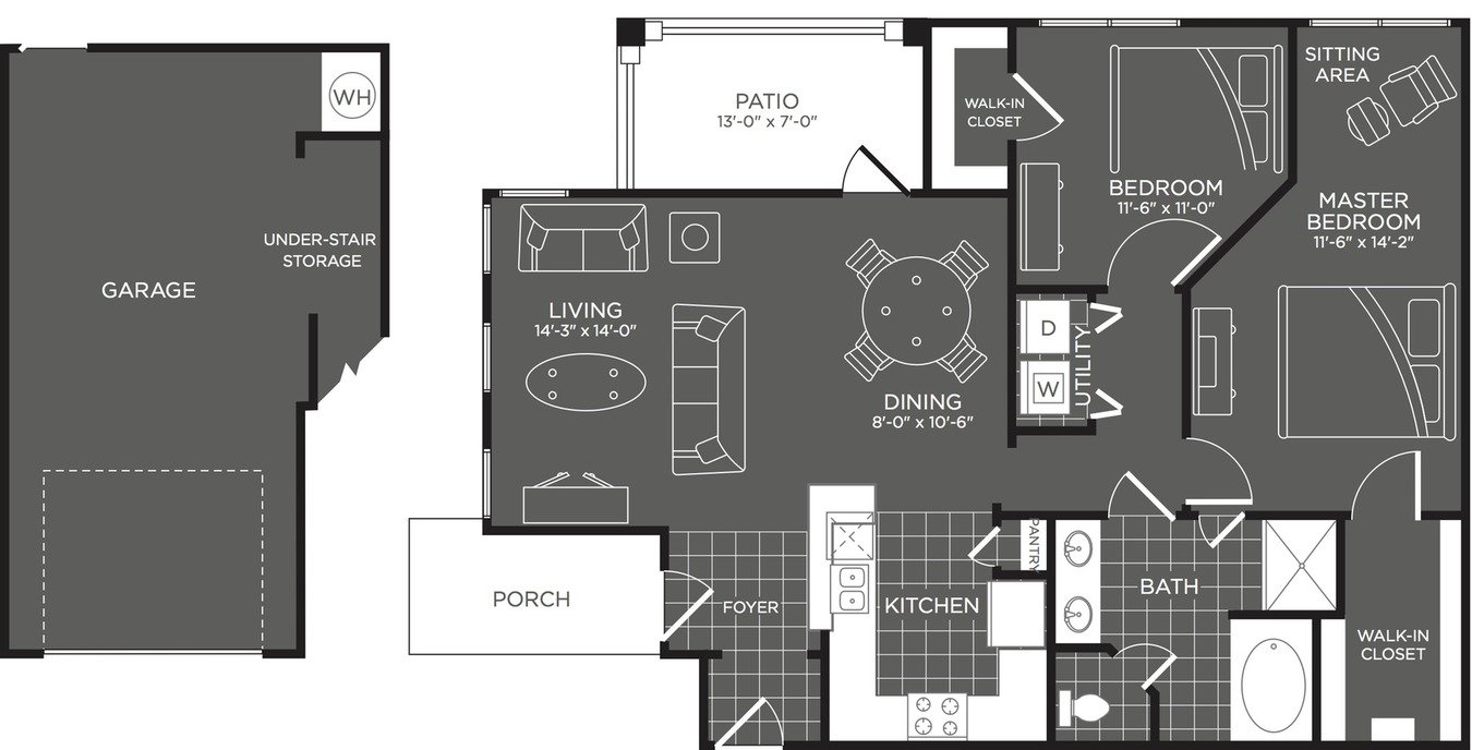 2 Bedrooms 1 Bathroom Apartment for rent at The Mansions At Briggs Ranch in San Antonio, TX
