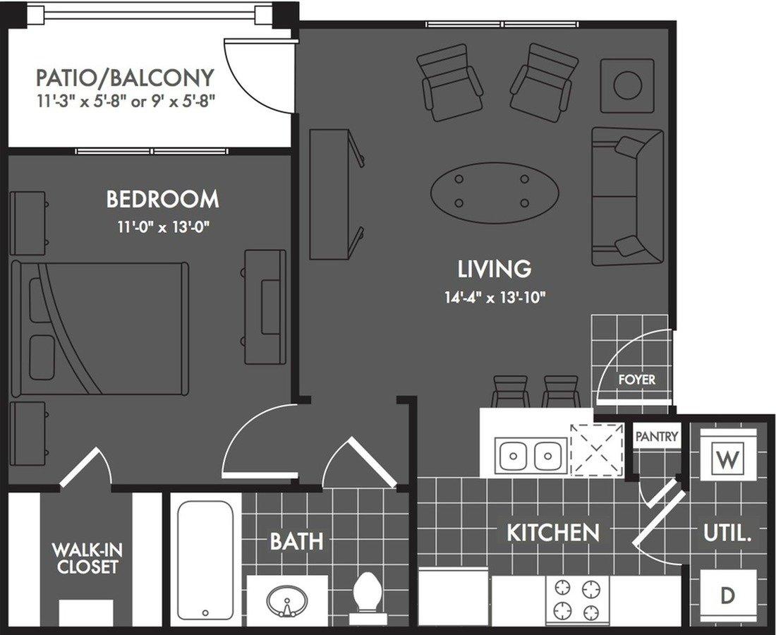 1 Bedroom 1 Bathroom Apartment for rent at The Estates At Briggs Ranch in San Antonio, TX