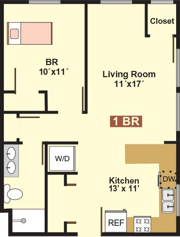 1 Bedroom 1 Bathroom Apartment for rent at 823 15th Ave Se in Minneapolis, MN