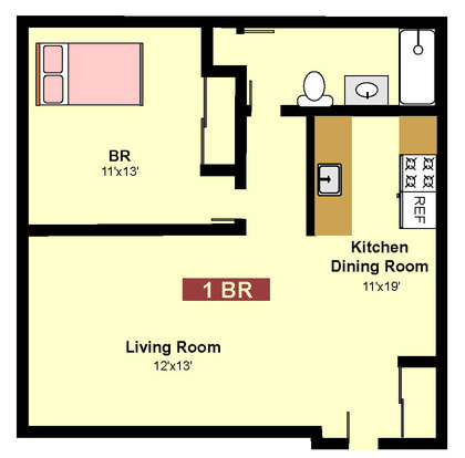 1 Bedroom 1 Bathroom Apartment for rent at 817 12th Ave Se in Minneapolis, MN