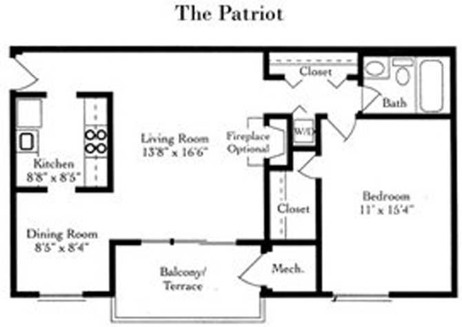 1 Bedroom 1 Bathroom Apartment for rent at Fairfax Square in Fairfax, VA