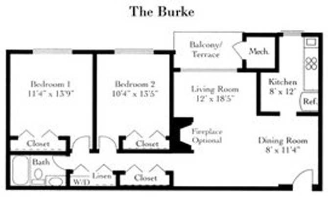 2 Bedrooms 1 Bathroom Apartment for rent at Fairfax Square in Fairfax, VA