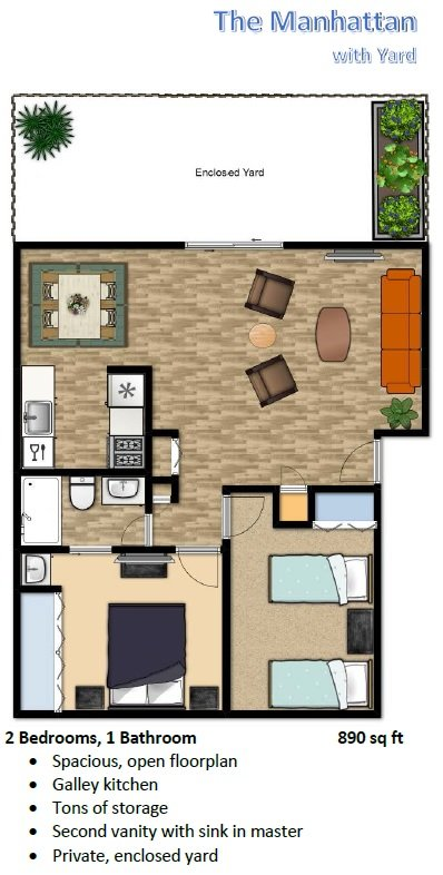 2 Bedrooms 1 Bathroom Apartment for rent at The Flats At Sky Village in Arvada, CO