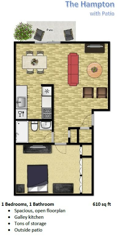 1 Bedroom 1 Bathroom Apartment for rent at The Flats At Sky Village in Arvada, CO